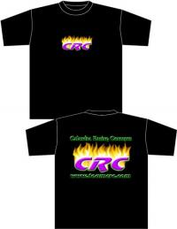 CRC Flame T-shirt Large (BLK)