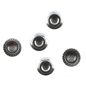 M4 STEEL NUT WITH FLANGE (10)